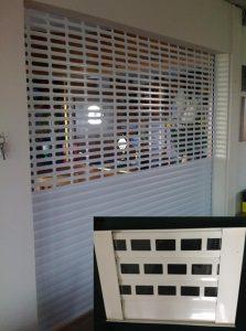 Bar-Shutter-with-Window-Section-Insert-223x300 Roller Shutters / Roller Doors