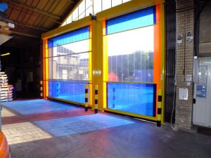 eco-strip-blue-clear-a1-300x225 Speed Doors - Eco-Strip Roller Door