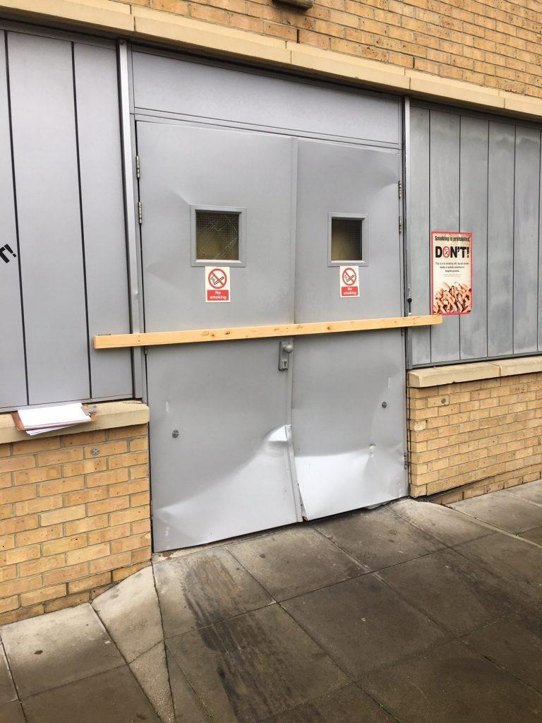 ram-raid-door-damage-min-768x1024 Ram Raid Repair - Ways to Avoid This Happening