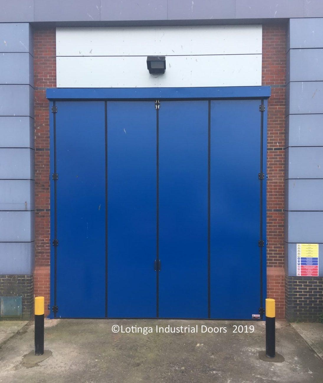 Bi Folding Garage Door: Industrial Acoustic Bi-Folding Doors
