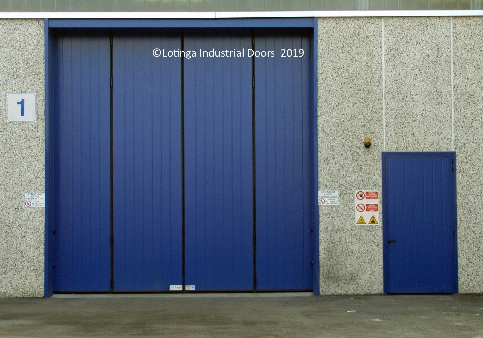 blue-liber-bi-folding-doors-min Industrial Bi-Folding Door