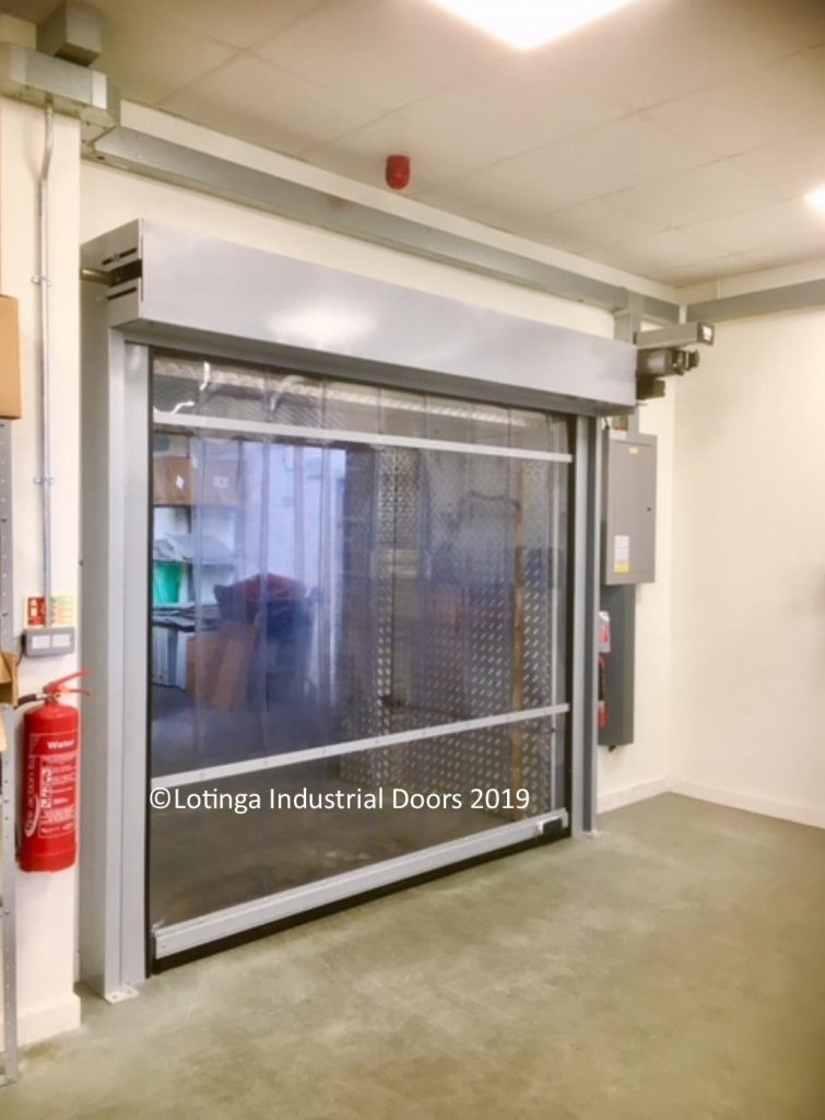 eco-strip-door-with-clear-curtain-min-1-755x1024 Internal Agricultural Doors